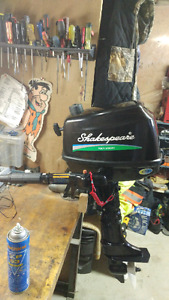 2012 Shakespeare 5hp 4 stroke. Mint. Less than 20 hours!