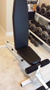 Exercise Weight Bench with 6 adjustments: FLAT - INCLINE