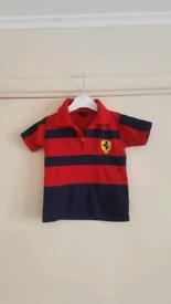 Ferrari boy polo shirt