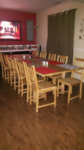 Ikea Table with 10 Chairs