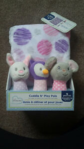 Brand new blanket and cuddle n play rattles