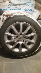 4 Jantes 17 pouces pour Suzuki SX4 avec pneus 205/50R17