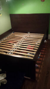 Ikea double bed and custom wrought iron double bed for sale!