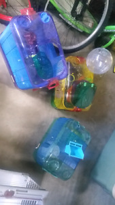 Lot of critter trail cages and accessories