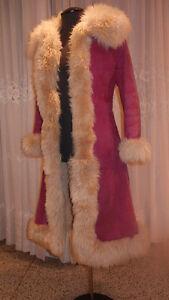 Manteau hiver en suêde