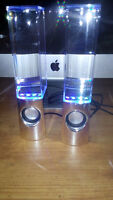 1 Pair of Water Speakers Computer Light Show