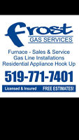 GAS LINES INSTALLATIONS FURNACE SALES AND SERVICE