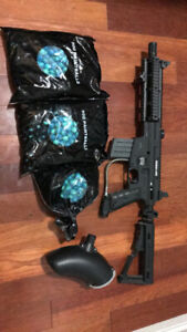 Paintball gun + extra