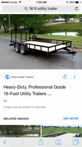 Wanted 16ft utility trailer