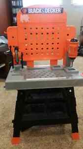 Black and Decker kids tool bench and tools