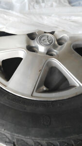 All season tires with steel rims for sale