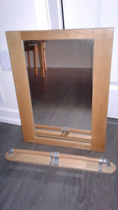 mirror with key chain hanger