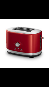 Red Kitchen Aid Toaster 2 Slice
