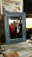 Blue Barn Wood Mirror