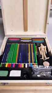 Royal & Langnickle 124 piece sketching and drawing easel artist