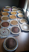 Homemade muffins and pies for sale