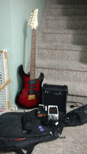 Yamaha Electric Guitar with Amp and Effects pedal!