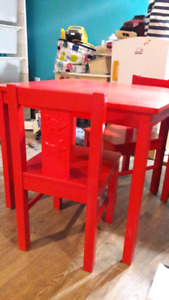 Ikea kid size table and chairs