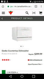 $150 Danby countertop dishwasher $400 brand new