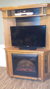 Corner Entertainment Centre with Fireplace