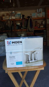 MOEN BRUSHED NICKEL WASHROOM FAUCET - DANIKA