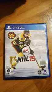 Sony Playstation NHL 15 PS4 game for sale - Kelowna