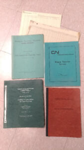 CN / CNR Train documents OLD railway stuff from railroad station