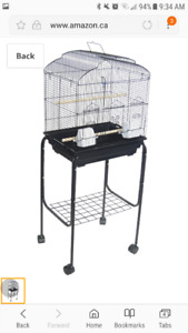 Small Bird Cage and Stand