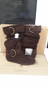 BNIB Ladies Brown  Soft-Leather Boots - Size 9 - $30.00
