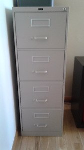 4 drawer, legal sized filing cabinet