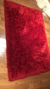 Red cozy rug!