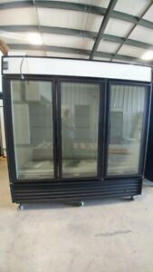 USED THREE GLASS DOOR COOLERS & FREEZERS (GDM 72 & GDM 72-F)