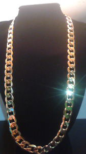 "24""12mm goldfilled curb chain"