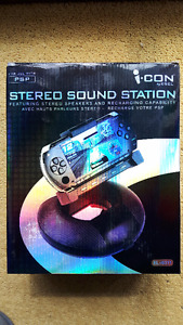 BRAND-NEW-IN-BOX !  i-con EL-i6311 Stereo Sound Station for PSP