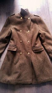 Manteau de laine style militaire