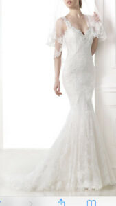 Pronovias Marte Lace Wedding Dress Size 6