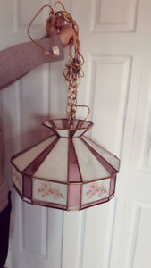 Hanging Stained Glass Lamp