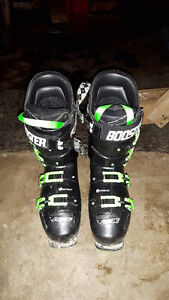 Lange RX 130 Boots Size 27.5 with Booster Strap