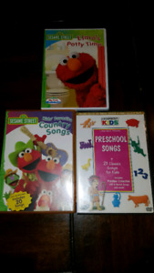 Elmo's potty time, country songs and preschool songs DVDs
