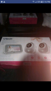 Vtech wifi wide angle video montior 2 camras come with it