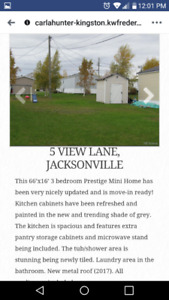 Mini home for sale 16x66 in Jacksonville (just past Woodstock)