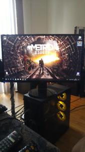 Ordinateur Gamer RGB i7-5820K 4GHz, 16G DDR4, RX 580 8G Écran 27