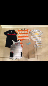 Gymboree rompers and overalls sz 12-18 months