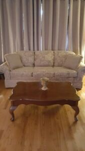 SOFA, LOVESEAT, COFFEE TABLE AND END TABLE FOR SALE