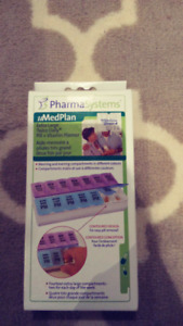 Brand New XL Twice Daily Pill Planner / Case