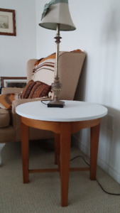Solid wood Coffee table and 2 end tables-made in usa