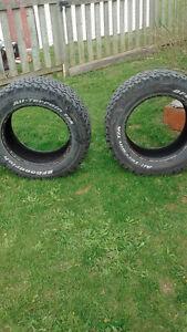 2 bfg truck tires