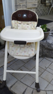 Baby and toddler high chair