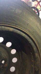 sell 4 195/65/15R  Michelin X-ICE winter/snow tires with rim