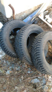 4 like new 195 x15 in  winter tires 125.00. others avail